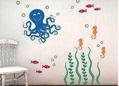 Wand Aufkleber Set Meer Ozean Freunde von TweetHeartWallArt auf Etsy