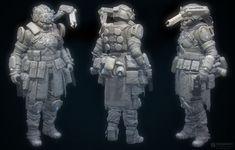ArtStation - TF2_heavy pilot_female, robb shoberg