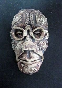 Steampunk Man Ceramic Mask by Uturn on Etsy. , via Etsy.