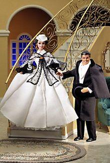 1995 - Hollywood Legends - Barbie® as Scarlett O'Hara (black and white dress) & Ken® as Rhett Butler Barbie Und Ken, Barbie I, Barbie World, Barbie Dress, Barbie Clothes, Barbie Blog, Princess Barbie, Rhett Butler, Scarlett O'hara