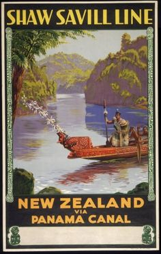 Shaw Savill Line - New Zealand via Panama Canal - (Waters) - - Tourism Poster, Poster Ads, Party Vintage, Vintage Ads, Vintage Images, Posters Australia, Nz Art, Vintage Travel Posters, Retro Posters