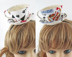 Teacup FascinatorPlaying cards by miwary on Etsy, £15.00  https://www.etsy.com/listing/56907614/teacup-fascinator-playing-cards?ref=usr_faveitems