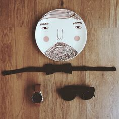 Looking dapper....Have a Happy Valentine's Day everyone!  Our Beardy Plate at @hombrecactusartshop x