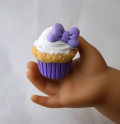 Disney inspired Daisy Duck Cupcake for by StaceyMorganStudios