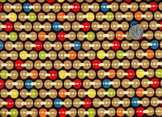 Cotton Quilt Fabric Wildlife Circles Geometric Dots Brown - product image