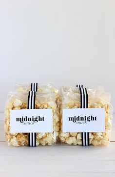 DIY Wedding Favor: Midnight Snack (Free Printable)
