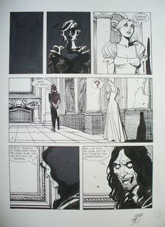 Nicola Mari - The Girl & the Vampire Comic Art