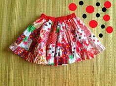 Tutorial: Little girl's patchwork tiered skirt