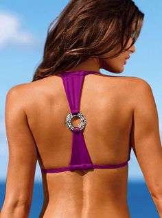 Love the back!  Irhidescent T-back Halter Top - Very Sexy® - Victoria's Secret