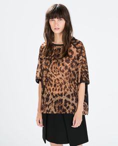 Image 1 of ANIMAL PRINT PONCHO from Zara