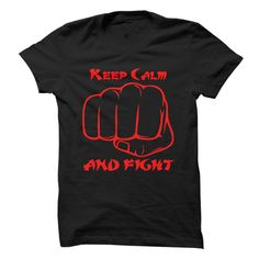 Keep Calm And Fight - #sweatshirts for women #mens casual shirts. MORE INFO => https://www.sunfrog.com/Sports/Keep-Calm-And-Fight--Multi-Color-With-Red.html?id=60505