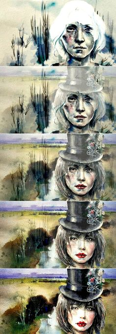 Watercolor paintings VI Morphing Music: Karpa. * Morphing: Drakre52. Watch: https://www.facebook.com/Drakre52/videos/881500355310882/ or https://youtu.be/K1iVaIGYwXU