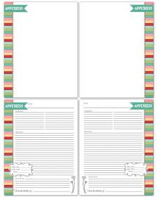 My Computer is My Canvas: RECIPE BINDER PRINTABLES & CARDS! {Red Edition}