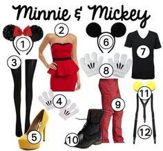 Minnie & mickey DIY