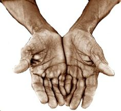 open palms (working hands)