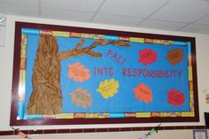 The Crafty Counselor: September: Responsibility World Bulletin Board, Counselor Bulletin Boards, Creative Bulletin Boards, College Bulletin Boards, Elementary School Counseling, School Counselor, School Teacher, Future School, Character Education
