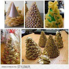 pinheiro de Natal com massas