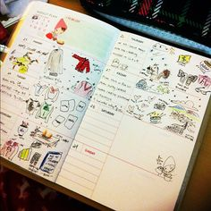 #illustrations January diary*planner by rocketcandy, via Flickr