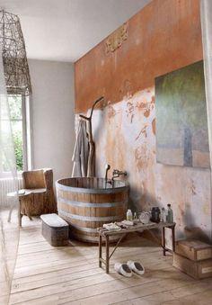 casa de color: Aseos en estilo rústico
