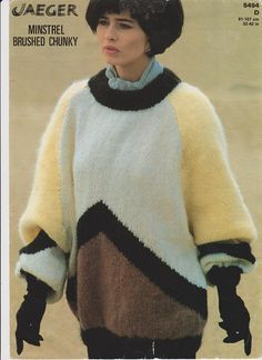 06c7578c8 Items similar to Minstrel brushed chunky 80s knitting pattern ladies on Etsy