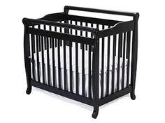 1. DaVinci Emily Mini Crib – Ebony-Best Baby Cribs Bedding