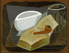 Juan Gris, The Book and the Pipe on ArtStack #juan-gris #art