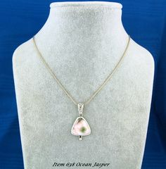 """A Unique Ocean Jasper Stone set in Sterling Silver that is called """"Eye Candy""""  This Item has been SOLD"""