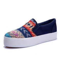 Comfortable Canva Sneaker Sneakers from stylishplus.com
