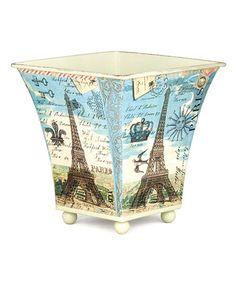 Another great find on #zulily! Paris Small Tin Cachepot #zulilyfinds