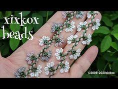 xixkox beads *シードビーズで編むネメシアのブレスレット ビーズステッチ beaded jewelry - YouTube