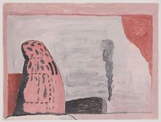 I admire Philip Guston's guts and directness. Untitled (Waiting)
