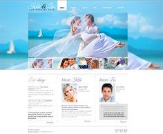 Free Website Template for Wedding Page