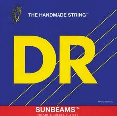 DR Strings Sunbeam - Nickel Plated Round Core 6 String Bass 30-125 by DR Strings. $39.75. Sunbeams are roundwound nickel-plated bass strings with round-core constructon. These bass strings are perfect for traditional as well as fretless players wanting more brightness and warmth. Sunbeams feature the easily recognizable feel and flexibility of DR round-core construction with nickel warmth, softness of feel, and increased response to magnetic pickups due to the sensitive m...