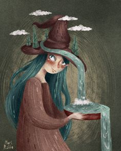 Witch by Mori Raito Art And Illustration, People Illustration, Serpentina, Under Your Spell, Occult Art, Modern Witch, Witch Art, Arte Popular, Heart Art