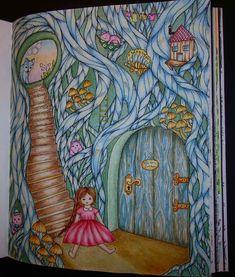 "Vivi and her blue chamber ... from coloring book ""Vivi söker en vän"" 🍄🐰👧🐭🐻🍁🌿❤ by Maria Trolle ❤ #vivisökerenvän #vivisokerenvan #mariatrolle #adultcolouringbooks #arttherapy #adultcoloringbook #coloringbook #colorforlife #drawing #omalovankyprodospele #colouringbook #colouring #malovaniproradost #bayan_boyan  #colorindolivrostop #kolorowankidladorosłych #kolorowamafia #nossa_vida_colorida #watercolor #watercolour #kuretakegansaitambi #derwentinktenseblocks #derwentinktense #mungyo…"