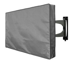 InCover Outdoor TV Cover - Compatible with Flat TV, LCD, LED, and Plasma TV - Water and Dust Resistant - Soft Interior - Fits over most TV Mounts and Stands - Built-in pocket for TV Remote Outdoor Curtains For Patio, Outdoor Patio Bar, Fire Pit Patio, Outdoor Spaces, Double Patio Doors, Sliding Patio Doors, Patio Under Decks, Outdoor Tv Covers, Small Patio Design