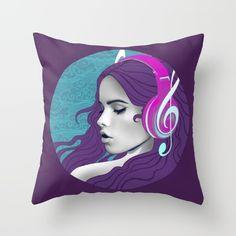 Song Girl Throw Pillow