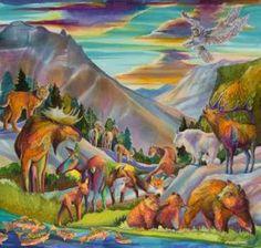 """""""Geography of Wonder""""    By Nancy Cawdrey Dye on Silk – 40"""" X 42"""""""