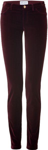 Emilio Pucci Bordeaux Velvet Pants in Purple (bordeaux).  Purple crushed velvet pants. 'nough said.