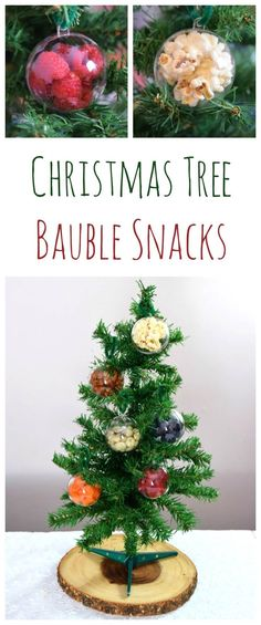 Fun and easy snack idea for Christmas - use fillable baubles for a Christmas treasure hunt - with a list of snack food ideas from Eats Amazing UK