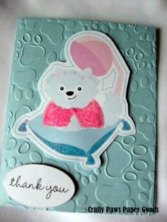 Thank you card pet sitter card pet groomer by CraftyPawsPaperGoods, $4.00