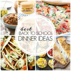 Easy Back to School Recipes | Quick, simple recipes sure to get rave reviews! @lizzydo