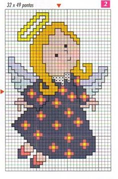Stitch And Angel, Cross Stitch Angels, Cross Stitch Charts, Cross Stitch Patterns, Cross Stitching, Cross Stitch Embroidery, Embroidery Patterns, Cross Stitch Christmas Cards, Christmas Cross