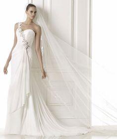 fashion+dresses+2015   Fashion Pronovias 2015 Wedding Dresses Collection : Gauze Asymmetric ...