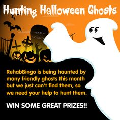 FIND THE HALLOWEEN GHOSTS  There are 5 ghosts hidden away on our Site and if you can find all of them and deposit €20 between 21st-27th October, you will be entered into a prize draw on the 31st and can win any of the FAB PRIZES below. 10 x €10 Bingo Bonus, 20 x €20 Slots Bonus, an Ipod Shuffle and a Kindle Ereader. Happy Hunting Roomies! Bingo Bonus, Prize Draw, Bingo Games, We Need You, Halloween Ghosts, Casino Games, Slot, Kindle, Hunting