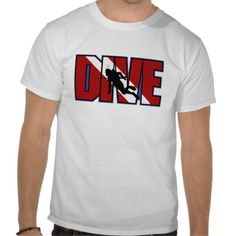 Shop Dive t-shirt created by sports_tshirts. Gifts For Scuba Divers, Closet Staples, Sport T Shirt, Shirt Ideas, Diving, Fitness Models, Cool Designs, Unisex, Casual