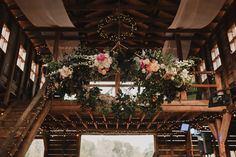 Hanging floral wreath wedding inspo | Image by Alicia Bryan Photography