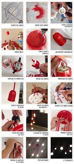 Casa de Colorir: Como fazer uma luminária pendente (e muito criativa)