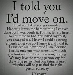 Best Quotes About Strength To Move On Breakup Hold On Ideas