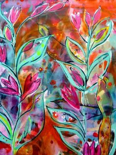 by Rebecca Brooks Illustrations, Illustration Art, Abstract Flowers, Abstract Art, Flora Bowley, Learn Art, Soul Art, Beautiful Butterflies, Painting Inspiration